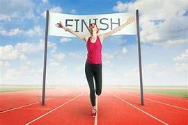 Woman Finishing Race