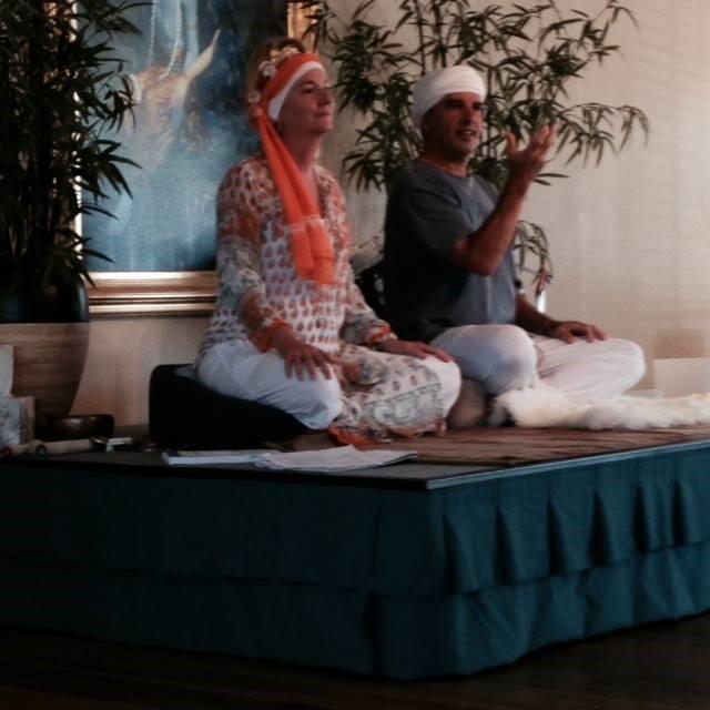 Mahanraj Kaur & Mahanraj Singh teaching at Great Divine Flow Yoga Studio in Vista, California